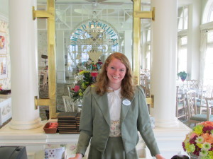 One of many delightful, welcoming cast members at the Grand Floridian Café.