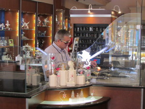 Spend some time watching the accomplished glass blowers at Arribas Brothers in the Marketplace.